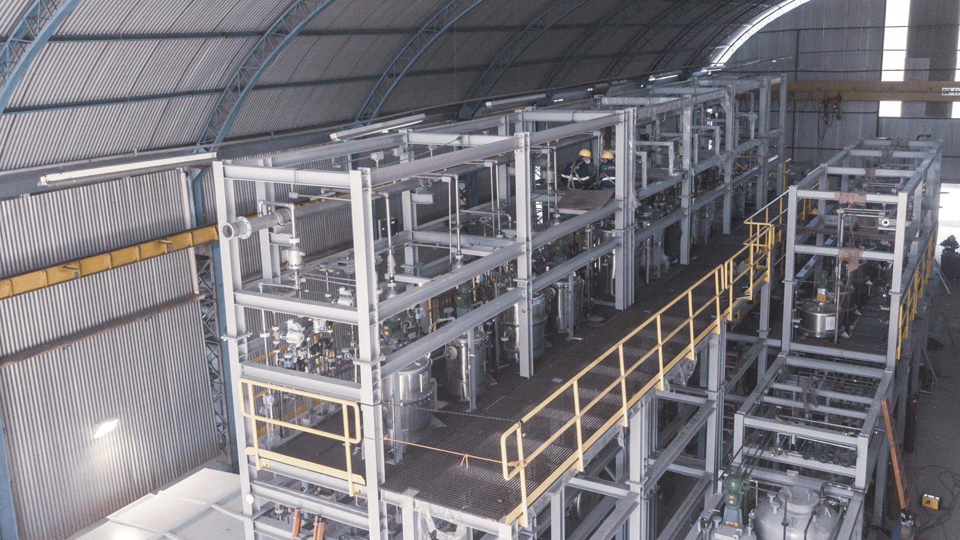 Visão aérea de planta de TNT Mac Jee